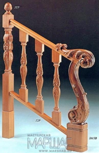 Поручни и перила для лестниц - кованые, деревянные или